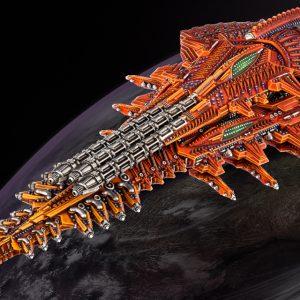TTCombat Dropfleet Commander  Shaltari Tribes Fleet Shaltari Battleship - HDF-23001 - 740781772368