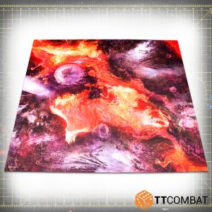 TTCombat   Tabletop Gaming Mats Dropfleet Lava Mat - 4x4 - KDTTSCM-DFC-002 -