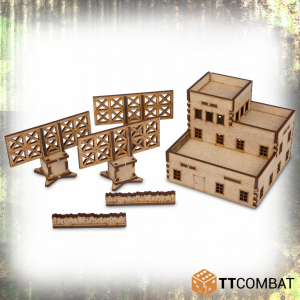 TTCombat   World War Scenics 15mm Radar Control Tower - TTSCW-WAR-012 -