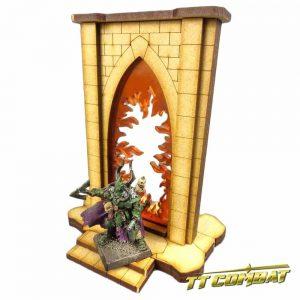 TTCombat   Fantasy Scenics (28-32mm) Minor Riftgate of Fire - FSC005 - 5060504043380