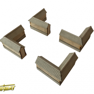 TTCombat   Eastern Empire (28-32mm) Yagura Wall Corner - EES013 - 5060504043779