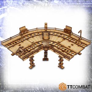 TTCombat   Sci Fi (15mm) High Line Track Curve - TTSCW-SFX-049 -
