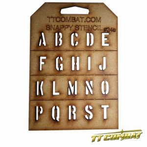 TTCombat   Snappy Stencils Military Letters (A-T) - SST24A - SST24A