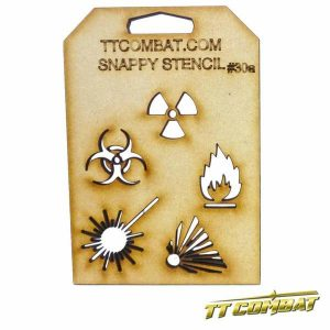TTCombat   Snappy Stencils Hazard Signs A - SST30A - SST30A