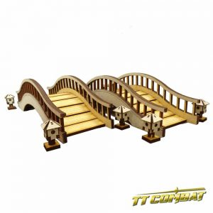 TTCombat   Eastern Empire (28-32mm) Oriental Bridges & Lanterns - EES003 - 5060504043328