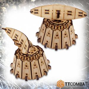 TTCombat   Sci Fi Gothic (28-32mm) Radar Silos - TTSCW-SFG-097 - 5060570137426