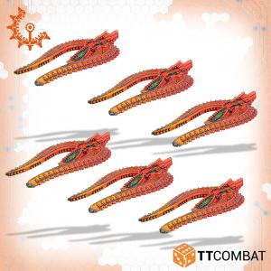 TTCombat Dropfleet Commander  Shaltari Tribes Fleet Shaltari Helium Voidflyer Lighters - TTDFR-SHL-006 - 5060570138362