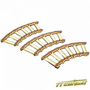TTCombat   Old Town (28-32mm) Curved Train Tracks - OTS036 -