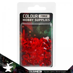 The Colour Forge   Acrylic Gems Acrylic Gems: Blood Drops - TCF-AG-0324 - 5060843100324