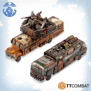 TTCombat Dropzone Commander  Resistance Land Vehicles Resistance Battle / Remote Bomb Buses - TTDZR-RES-005 - 5060570137488