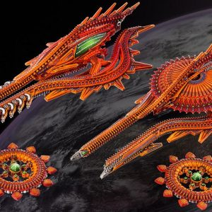 TTCombat Dropfleet Commander  Shaltari Tribes Fleet Shaltari Cruiser Box - HDF-33002 - 740781772450