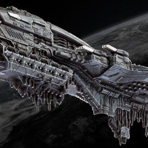 TTCombat Dropfleet Commander  UCM Fleet UCM Battleship - HDF-21001 - 740781772344