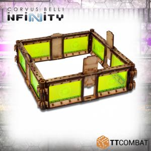 TTCombat   Infinity Terrain (TTCombat) TTCombat- Infinity- Objective Compound (blue) - INFOCBLUE - INFOCBLUE
