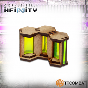 TTCombat   Infinity Terrain (TTCombat) Neon Barricades - TTSCW-SFU-064 - 5060570136009