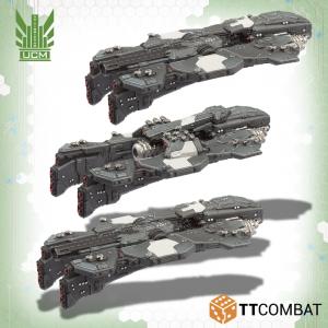 TTCombat Dropfleet Commander  UCM Fleet UCM Monitors - TTDFR-UCM-005 - 5060570136757