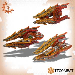 TTCombat Dropfleet Commander  Shaltari Tribes Fleet Shaltari Monitors - TTDFR-SHL-005 - 5060570136771