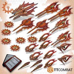 TTCombat Dropfleet Commander  Shaltari Tribes Fleet Shaltari Battlefleet - TTDFX-SHL-004 - 5060570135910