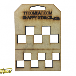 TTCombat   Snappy Stencils Large Checkers - SST29B -