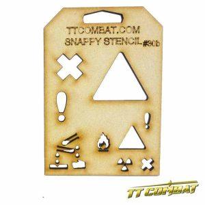 TTCombat   Snappy Stencils Hazard Signs B - SST30B - SST30B