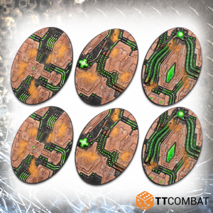 TTCombat   Tomb World 90mm Tomb World Oval Bases - TTSCR-SFG-020 - 5060570139222