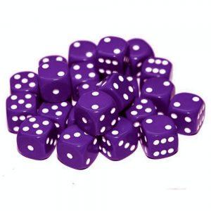TTCombat   Opaque Dice: Purple (12mm) - KDDO04 - 5060570131530