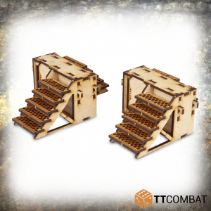 TTCombat   Iron Labrynth (28-32mm) Iron Labyrinth: Stairs - TTSCW-INH-052 - 5060570136818
