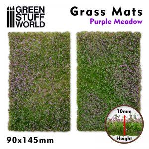 Green Stuff World   Grass Mats Grass Mat Cutouts - Purple Meadow - 8436574508413ES - 8436574508413