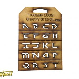 TTCombat   Snappy Stencils Futuristic Letters (A-T) - SST25A -