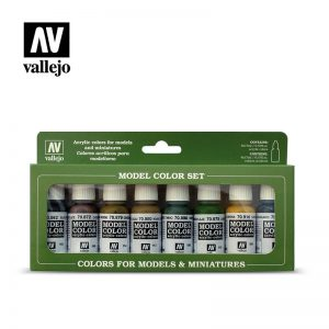 Vallejo   Paint Sets Vallejo Model Color Set - Panzer Colors (x8) - VAL70108 - 8429551701082