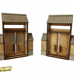 TTCombat   Eastern Empire (28-32mm) Yagura Wall Small Gates - EES019 - 5060504043786