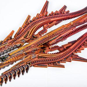 TTCombat Dropfleet Commander  Shaltari Tribes Fleet Shaltari Battlecruiser - HDF-23003 - 740781772641