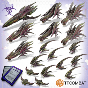 TTCombat Dropfleet Commander  The Scourge Fleet Scourge Battlefleet - TTDFX-SCG-004 - 5060570135897