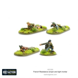 Warlord Games Bolt Action  France (BA) French Resistance Sniper & Light Mortar - 402215505 - 5060572509283