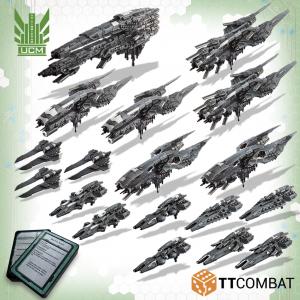 TTCombat Dropfleet Commander  UCM Fleet UCM Battlefleet - TTDFX-UCM-004 - 5060570135880