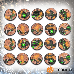 TTCombat   Tomb World 28mm Tomb World Bases - TTSCR-SFG-013 - 5060570139192