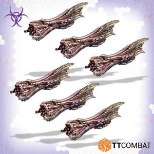 TTCombat Dropfleet Commander  The Scourge Fleet Scourge Hiruko Boarding Cutters - TTDFR-SCG-006 - 5060570138348