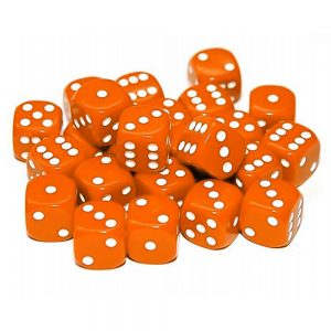 TTCombat   Opaque Dice: Orange (12mm) - KDDO07 - 5060570131561