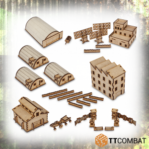 TTCombat   World War Scenics 15mm Rural Military Base Bundle - TTSCW-WAR-016 - 5060570134654