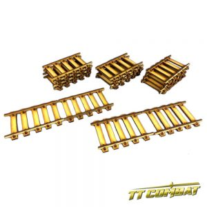 TTCombat   Old Town (28-32mm) Straight Train Tracks - OTS035 -
