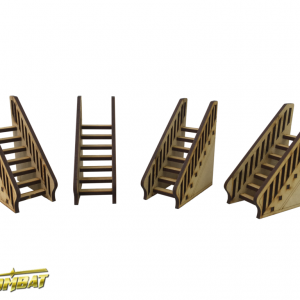 TTCombat   Old Town (28-32mm) Freestanding Staircase (4) - OTS012 - 5060504040846