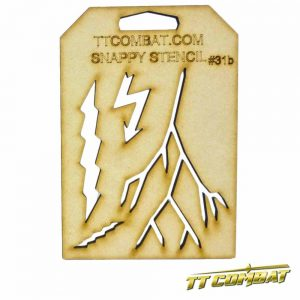 TTCombat   Stencils Lightning B - SST31B -