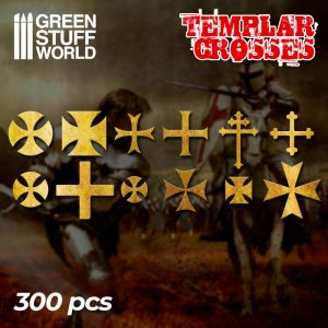 Green Stuff World   Etched Brass Etched Brass Templar Cross Symbols - 8436574508260ES - 8436574508260