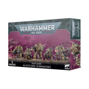 Games Workshop Warhammer 40,000  Death Guard Death Guard Blightlord Terminators - 99120102124 - 5011921153534