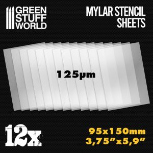 Green Stuff World   Hobby Extras Small Mylar Stencil Sheets x12 - 8436574508536ES - 8436574508536