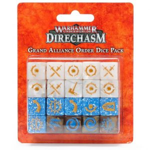 Games Workshop (Direct) Warhammer Underworlds  Warhammer Underworlds Underworlds Grand Alliance Order Dice Pack - 99220799009 - 5011921111206