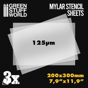 Green Stuff World   Hobby Extras A4 Mylar Stencil Sheets x3 - 8436574508529ES - 8436574508529