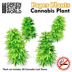 Green Stuff World   Plants & Flowers Paper Plants - Cannabis - 8436574509472ES - 8436574509472