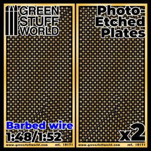 Green Stuff World   Etched Brass Photo-etched Plates - Barbed Wire - 8436574506709ES - 8436574506709