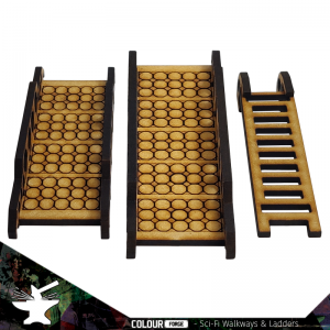 The Colour Forge   The Colour Forge Terrain Sci-Fi Walkways & Ladders - TCF-SCI-008 - 5060843100652