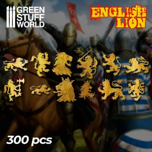 Green Stuff World   Etched Brass Etched Brass English Lion Symbols - 8436574500509ES - 8436574500509